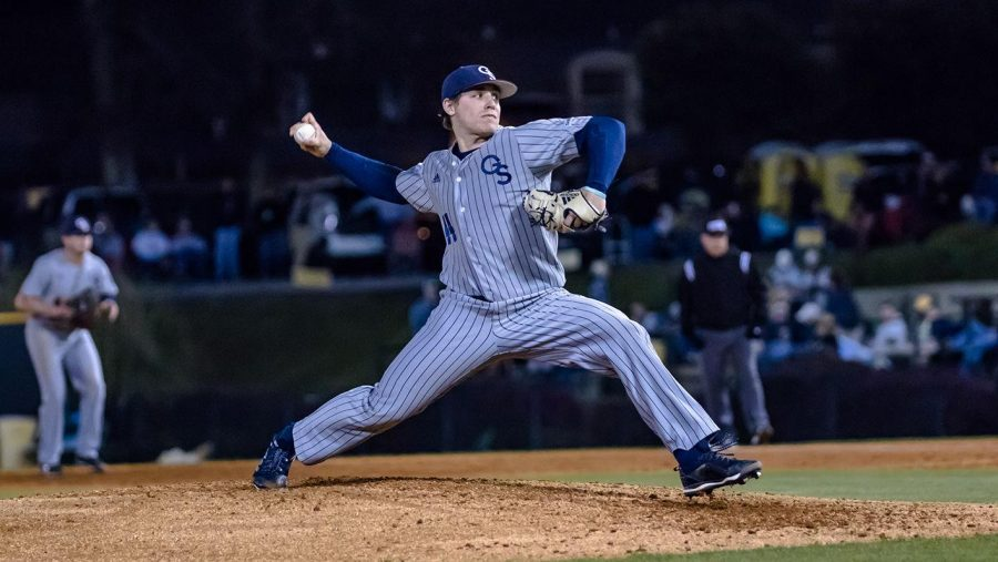 Junior+RHP+Brian+Eichorn+pitched+six+innings+in+the+extra+inning+loss+to+%2315+Southern+Miss.%C2%A0
