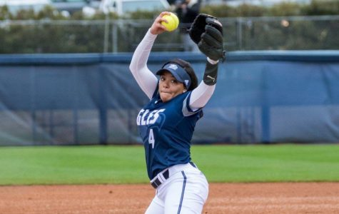 Senior pitcher Kierra Camp improved her season record to 8-3 with a brilliant five innings in Sunday's win over ETSU.
