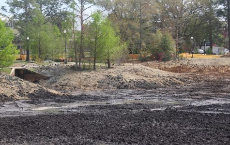 Lake Ruby remains empty as construction continues.