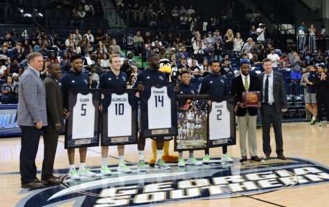 The Eagles travel to New Orleans to compete in the Sun Belt tournament this week.