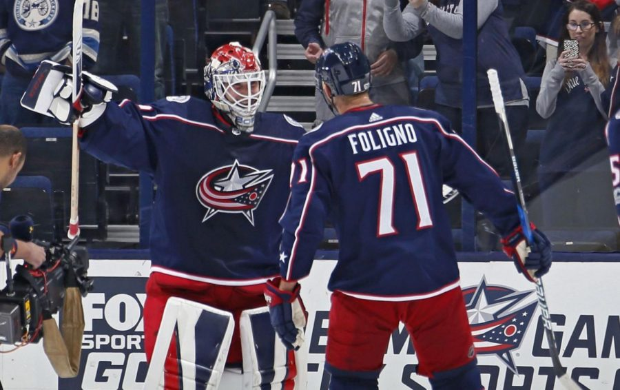 The Columbus Blue Jackets clinched a wild card spot behind goalie Sergie Bobrovsky's 37 wins in net.