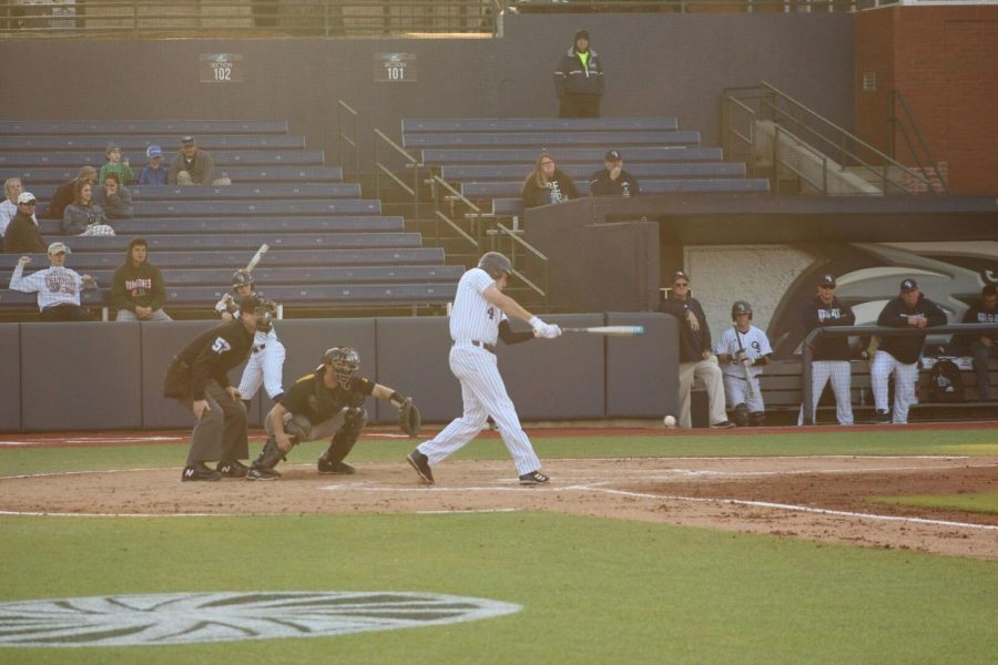 Sophomore Mason McWhorter hit three doubles in Tuesday's win over College of Charleston.