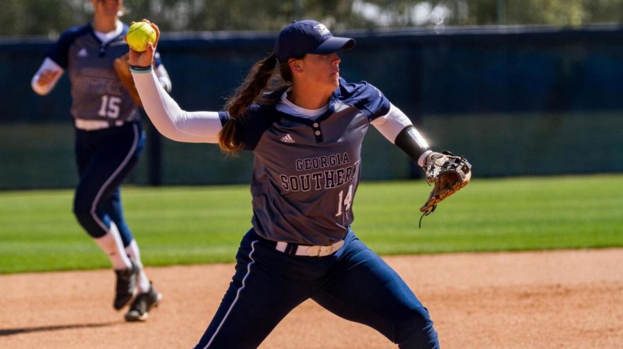 Junior Hannah Farrell is fifth in the Sun Belt with 10 doubles.