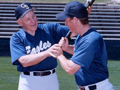 Legendary baseball coach Jack Stallings (left) passed away this week at 87.