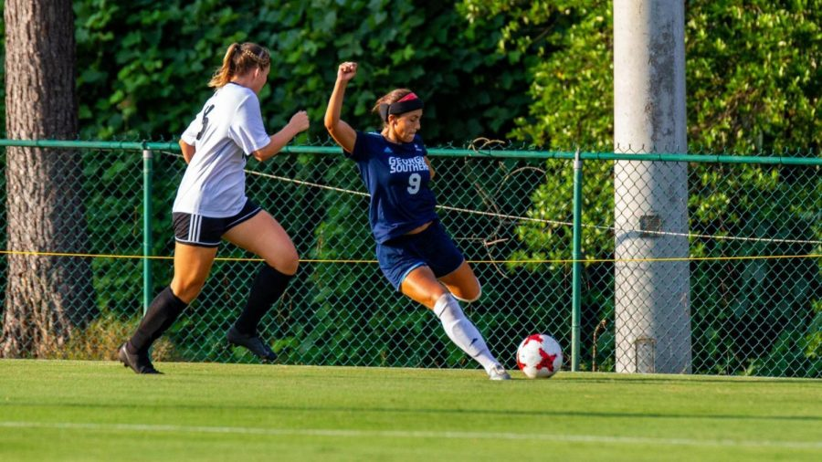 Senior defender Junique Rodriguez has played 112 minutes through two games for the Eagles. She had one shot on goal in the loss Sunday to Chattanooga.