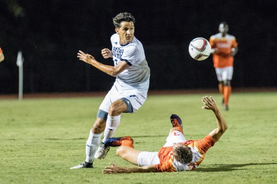 Senior forward/midfielder Javier Carbonell scored two second half goals against a stout Old Dominion team to secure a tie in Sunday's game.