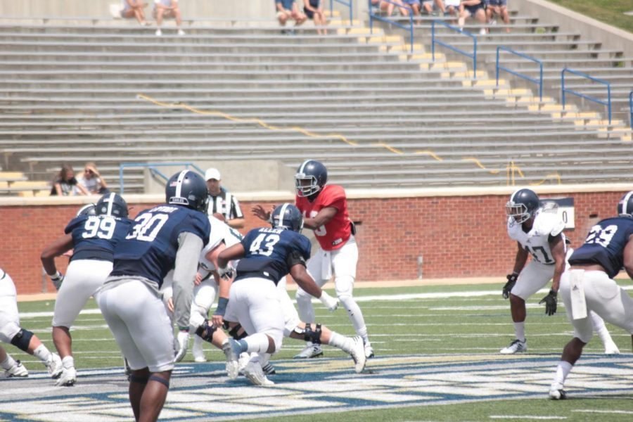 Redshirt sophomore Jaalon Frazier is a quarterback Coach Lunsford is excited about.