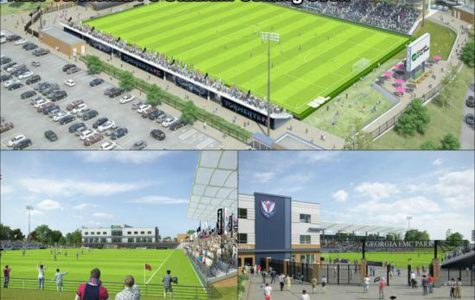 The stadium will be built using funds from the Old Register tax allocation district. It will be located between The Clubhouse and Veterans Memorial Parkway.