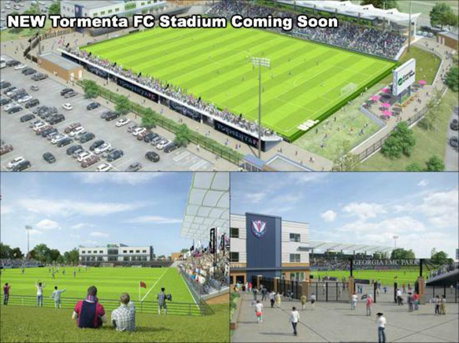 The+stadium+will+be+built+using+funds+from+the+Old+Register+tax+allocation+district.+It+will+be+located+between+The+Clubhouse+and+Veterans+Memorial+Parkway.