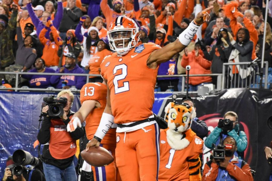 Clemson%27s+quarterback+Kelly+Bryant+has+been+in+a+quarterback+battle+with+freshman+Trevor+Lawrence.%C2%A0