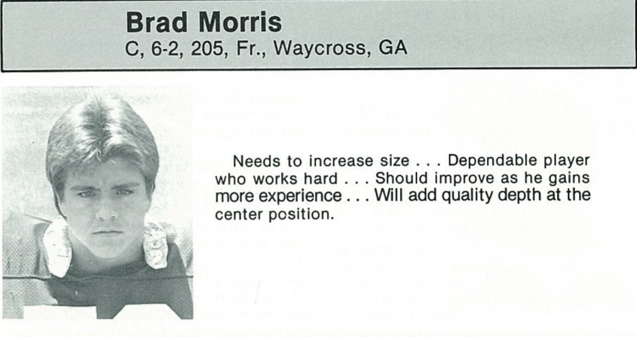 Brad Morris was born Waycross, but moved to live with his father in Virginia.