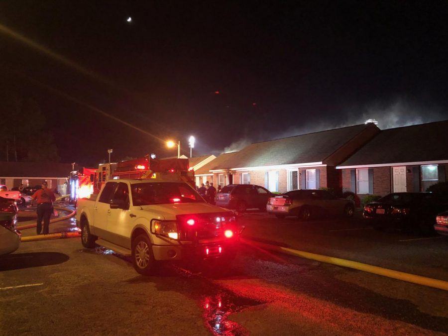 The Statesboro Fire Department responded to a house fire at apartment complex Stadium Walk. Statesboro Fire Chief Tim Grams said the cause of the fire does not appear to be malicious and that no one was hurt.