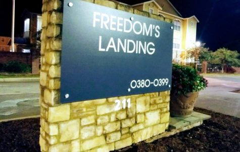 A fire occurred in a bathroom on the first-floor bathroom of Freedom's Landing due to a wiring malfunction Thursday night. Furniture and belongings from the room, including the mattress, were later removed from the dorm.