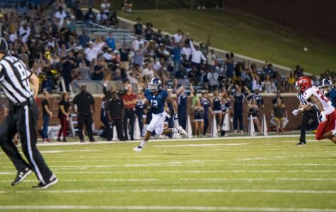 Sophomore slotback Wesley Kennedy III scored his first collegiate touchdown in the 28-21 victory over Arkansas State. Kennedy III scored a 47-yard touchdown with 19 seconds left in the game.