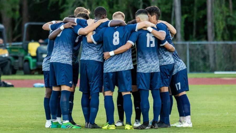 The Georgia Southern men's soccer team hosts in-state rival Georgia State Saturday night.