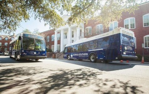 Georgia Southern University Parking and Transportation holds various lost items from its buses. Each week, First Transit comes into the Parking and Transportation office at GS to relinquish items that were left on school buses.