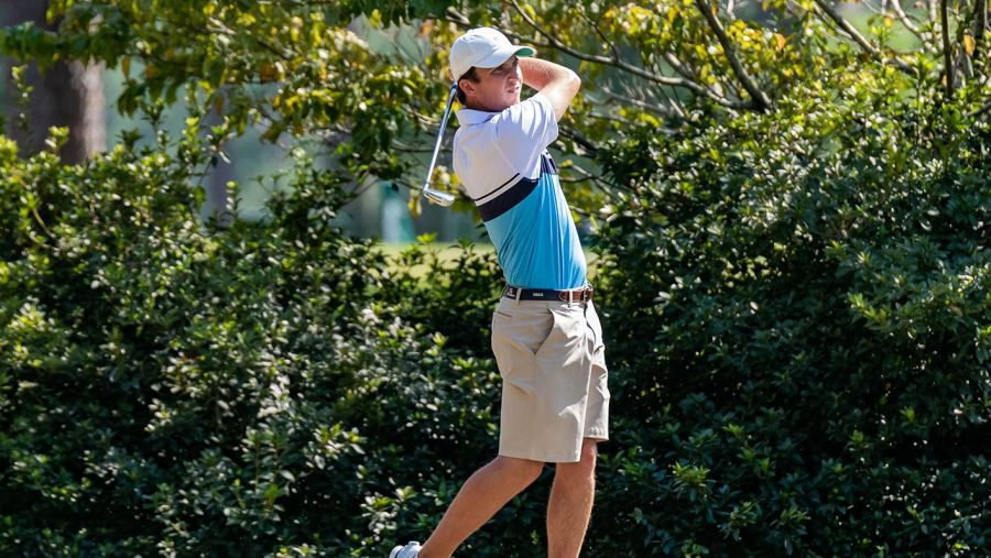 Senior Steven Fisk shot 15-under par to win his third tournament of the year. The Eagles finished in second at the Fighting Irish Classic.