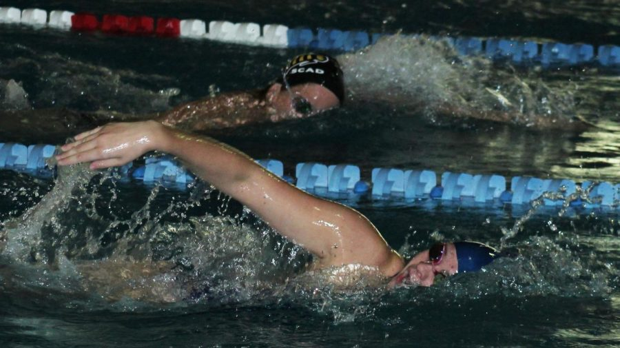 The+Georgia+Southern+swim+team+beat+SCAD+Friday+in+their+first+meet+of+the+season.+The+Eagles+won+all+14+events.%C2%A0