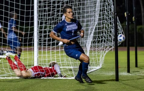 Senior forward Javier Carbonell picked up his tenth goal of the season in a losing effort at Mercer.