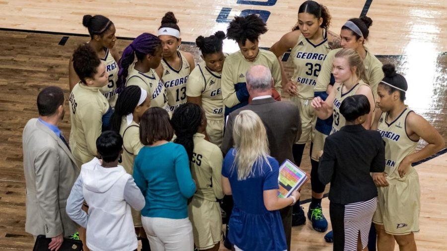 The+Georgia+Southern+women%27s+basketball+team+tips+off+their+2018-19+season+Tuesday+night+against+Wofford.%C2%A0