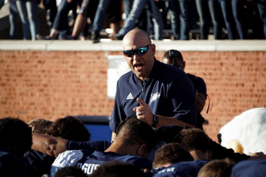 Head Coach Chad Lunsford leads his Eagles into their final regular season game against Georgia State Saturday. Kickoff from Atlanta set for 2 p.m.