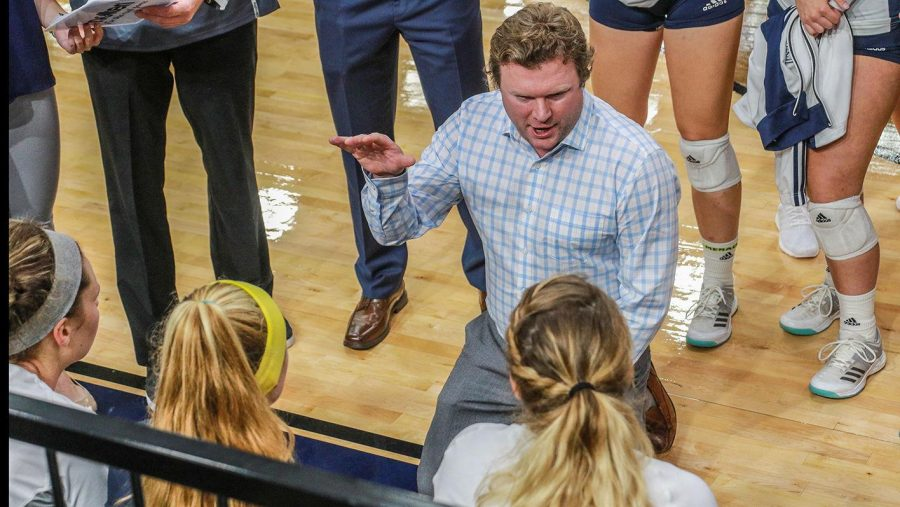 Dustin+Wood+has+resigned+as+head+coach+of+the+Georgia+Southern+volleyball+team+following+a+9-22+season.+Kyle+Gramit+has+been+named+interim+coach+while+a+search+for+a+new+coach+is+conducted.
