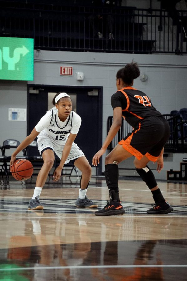 Junior+guard+Amira+Atwater+scored+two+points+and+had+two+steals+in+a+losing+effort+to+the+University+of+Georgia.
