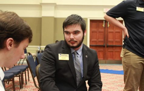 Tyler Tyack, speaker for the Armstrong Campus SGA, and Spencer DeMink, executive vice president of Armstrong Campus, shared their thoughts about Wednesday nights senate meeting.