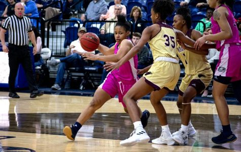 Junior guard Alexis Brown (4) has been a leader for the Eagles this season, scoring 52 total points in her 753 total minutes of play.