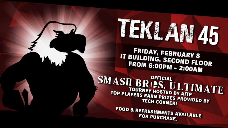 TekLAN+is+Friday+in+the+IT+Building+from+6+p.m.+to+2+a.m.+There+will+be+a+Smash+Bros.+Ultimate+Tournament+with+prizes+for+winners.