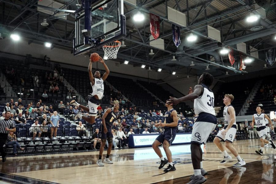 The Eagles currently sit on a four game win streak and a 10-5 conference record while being tied for second in the Sun Belt with rival Georgia State.