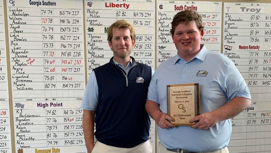 Junior Jake Maples finished second by shooting a score of 67 in the final round of theGS Individual Collegiate.