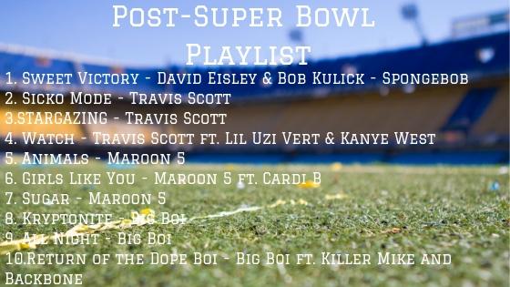 Post-Super Bowl Playlist