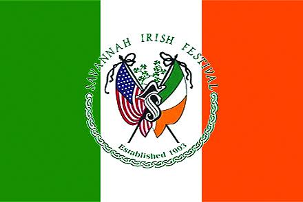Flag used every year for Savannah Irish Festival. savannahirishfestival.org.