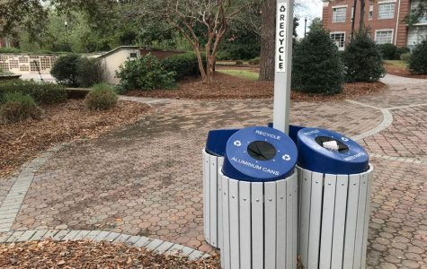 Tyra Smith pitched the idea to SGA to implement more recycling and compost bins around campus.