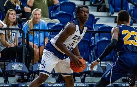Daniel Cooper scored two points against Carver College in the 2018-19 season.