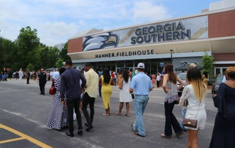 At the 2019 Georgia Southern University commencement ceremonies, Hanner Fieldhouse reached capacity at all four ceremonies.