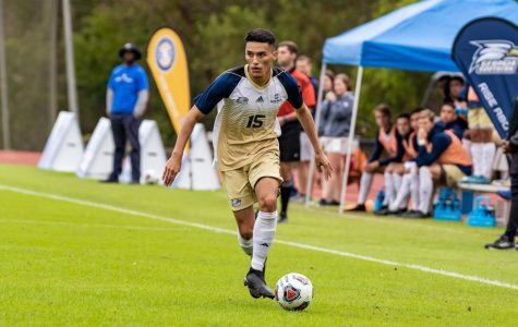 Aldair Cortes (15) made the 2018 Sun Belt Conference All-Tournament Team and returns for his junior season as an Eagle.