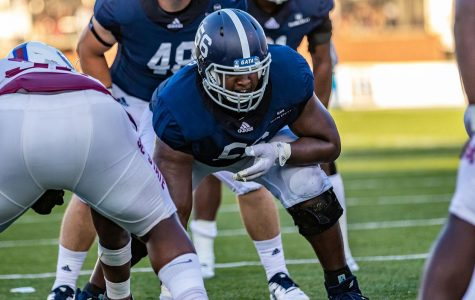 Georgia Southern starting right tackle Brian Miller is going to miss the 2019 football season after undergoing hip surgery.