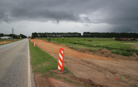 Statesboro's Old Register Road is under construction to accommodate the new soccer stadium coming in 2020.