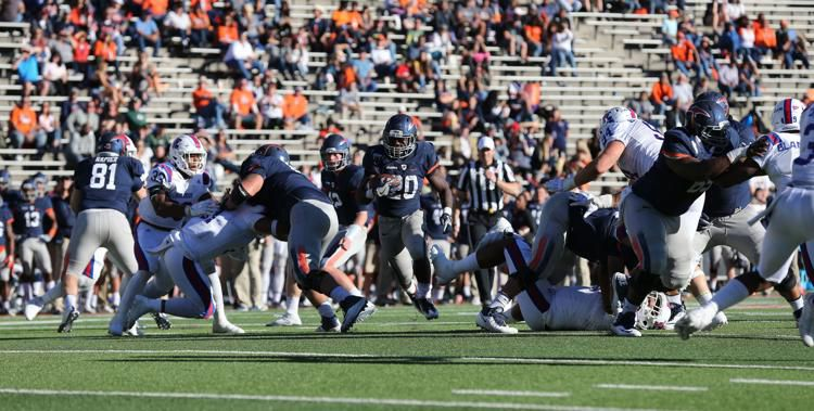 Former UTEP running back Joshua Fields (20) is no longer with the Georgia Southern football team, confirmed Monday by the program.