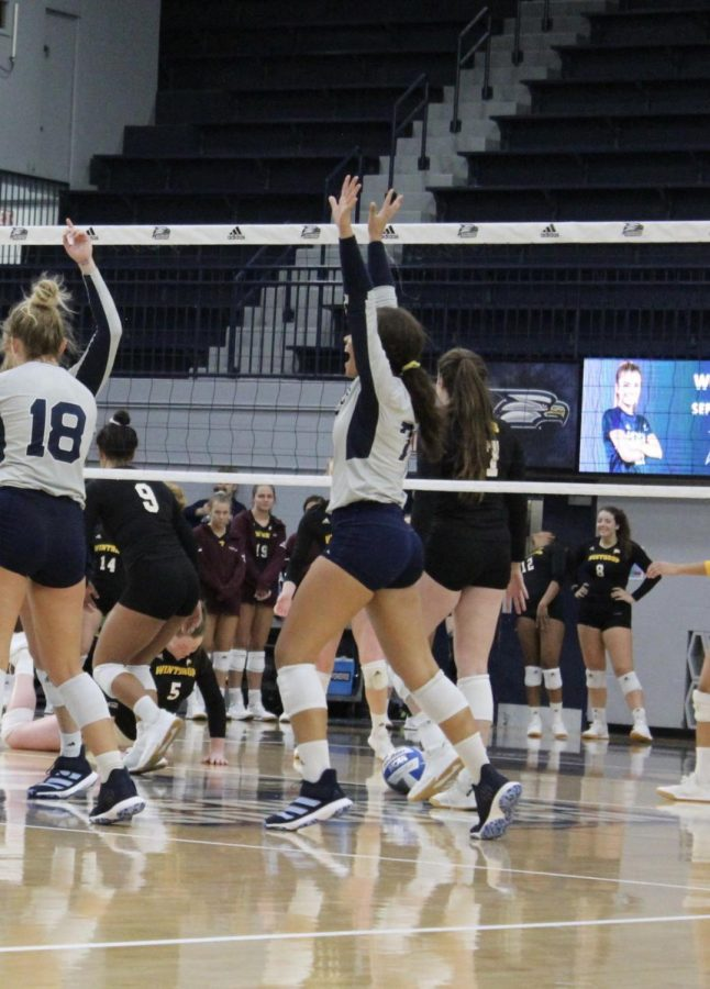 Wilson made her collegiate debut against Campbell where she notched seven kills in three sets.