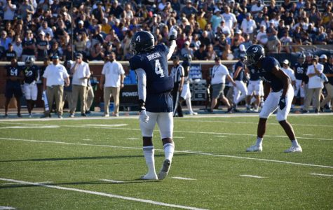 Senior cornerback Monquavion Brinson had seven tackles in Georgia Southern's win against Maine.