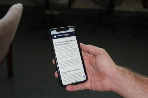 An Eagle Alert is the university's emergency system that sends messages through a student or staff member's university email, a phone call or text message.