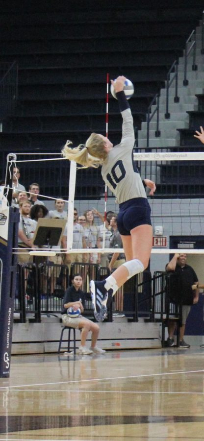 Bryant is a sophomore outside hitter for the Georgia Southern volleyball team.