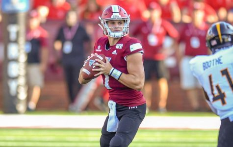 Senior quarterback Kaleb Barkerthrew for 504 yards, as well as throwing for four touchdowns against Southern Miss.