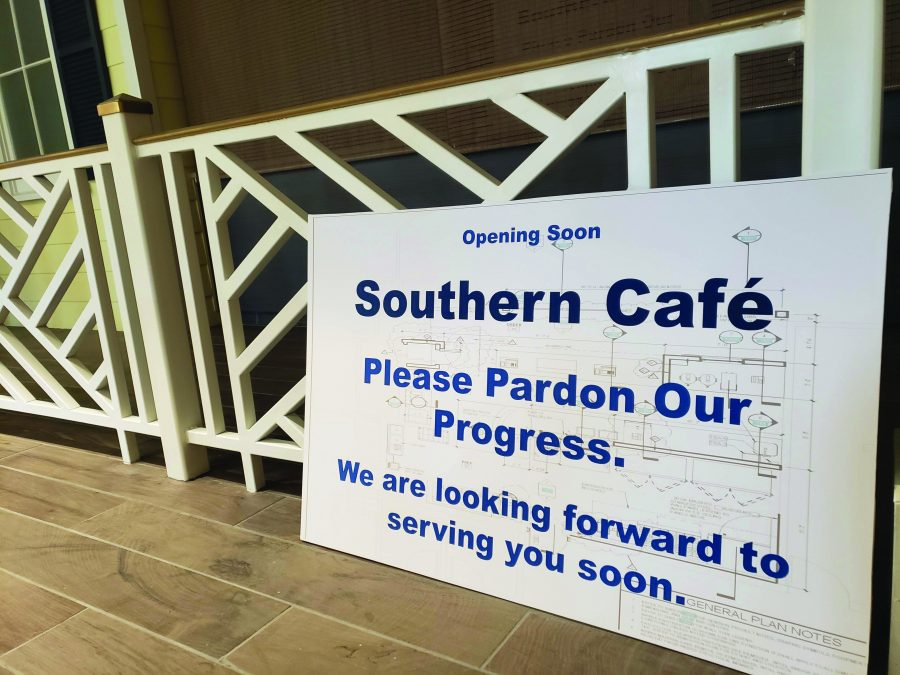 Southern Café is still in the process of construction. Photo by Madison Watkins.