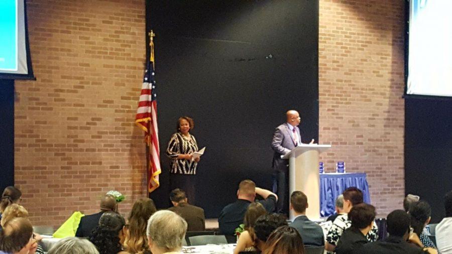 Statesboro mayor Johnathan McCollar gave the opening address at the gathering.