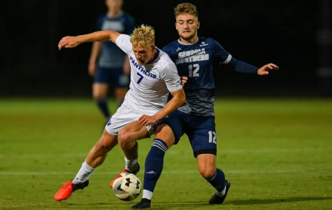 The Georgia Southern soccer teams swept rival Georgia State this weekend