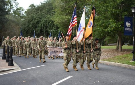 """""""Marching in the homecoming parade allows us to pay tribute to our alumni but to also inspire the current cadets to what is to come when they graduate and become alumni,"""" Cantrall said."""